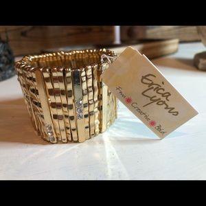 New! Erica Lyons Gold Stretch Bracelet